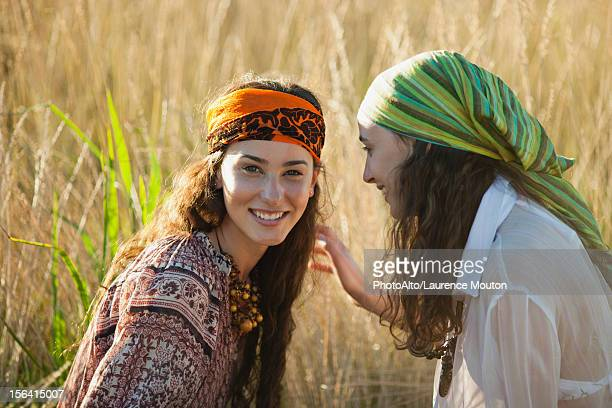 Young women in grass