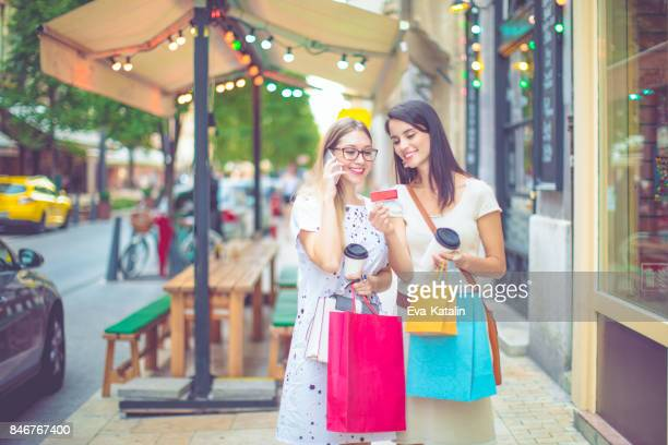 Young women in the city