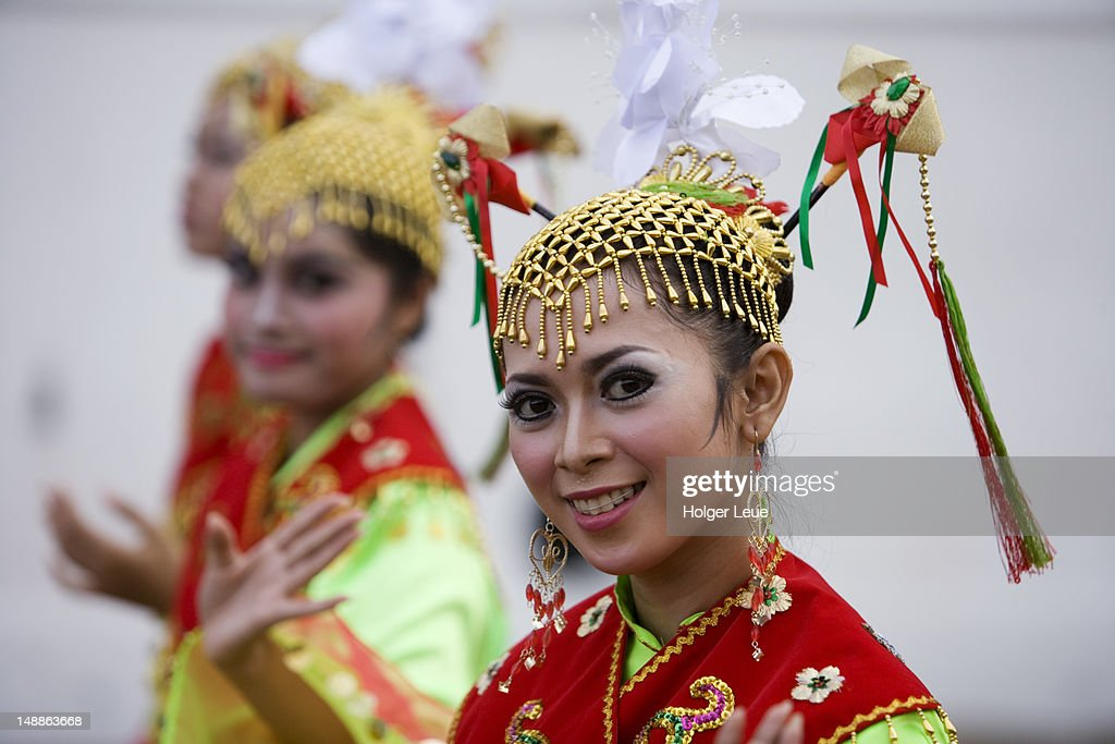 Young women in traditional costume. : Stock Photo