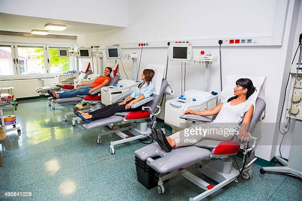 Young women is going to donate blood in  blood bank