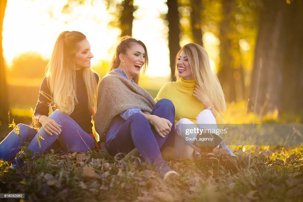 Young women laughing : Stock Photo