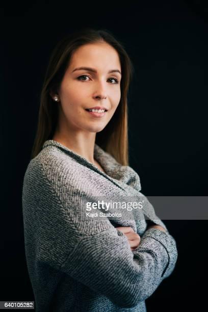 young women portrait in studio
