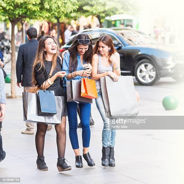 Young women shopping at Kadikoy Istanbul