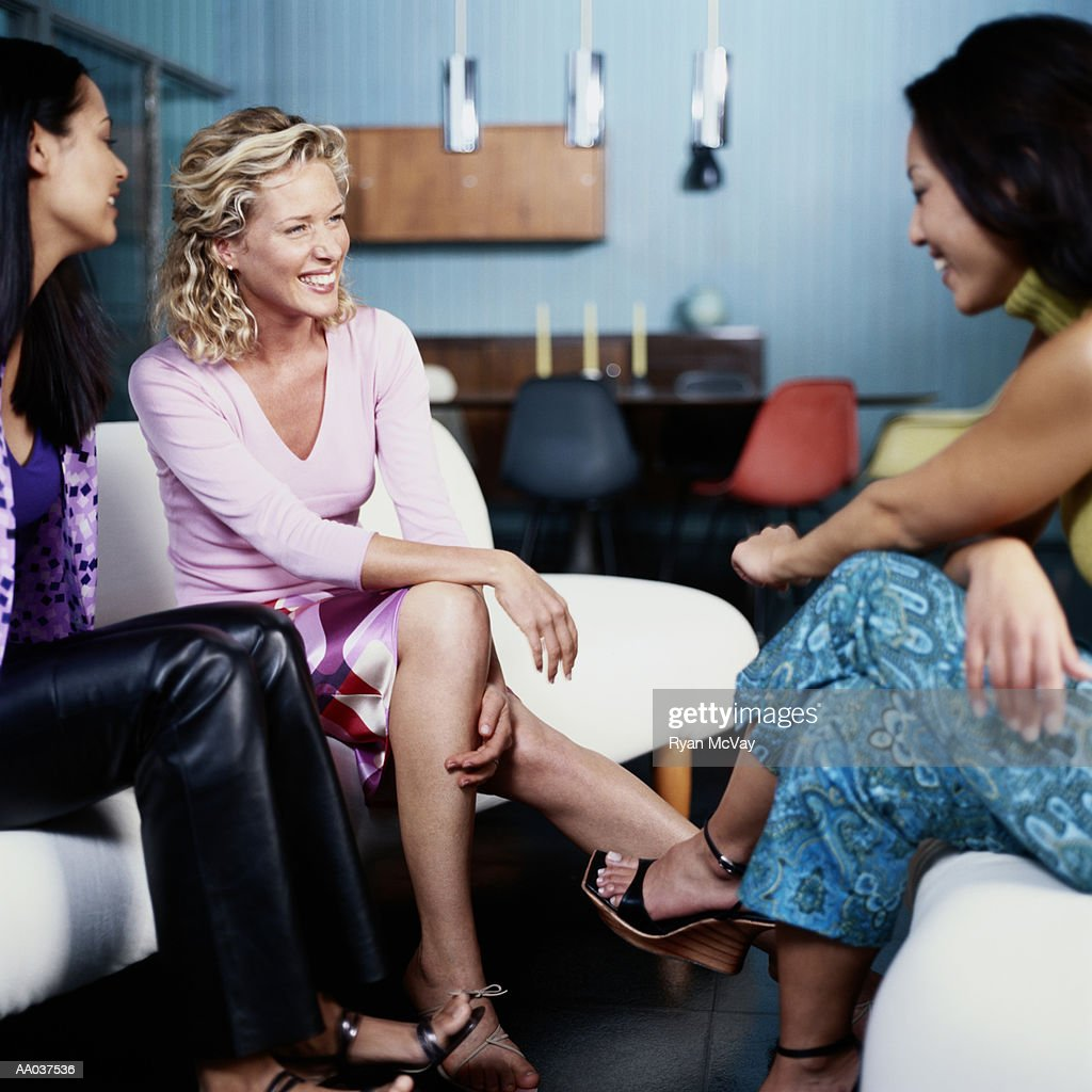 Young Women, Sitting Around House, Talking
