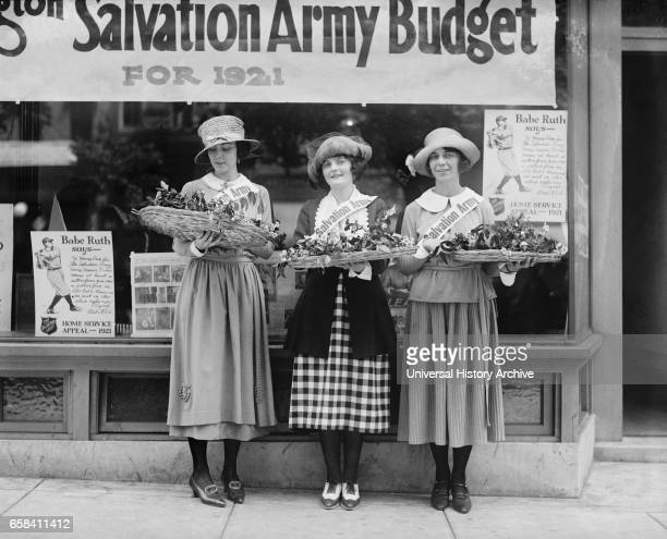 Young Women Volunteers known as Salvation Army House Girls Portrait Washington DC USA National Photo Company 1921