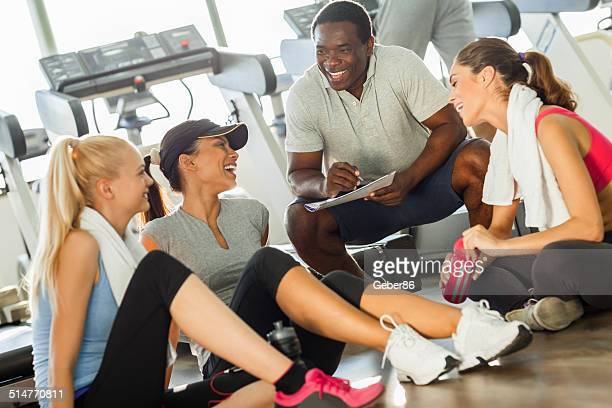Young women with trainer