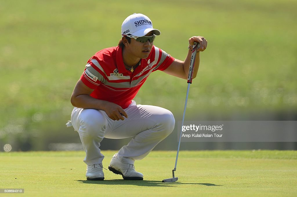 Younghan Song of Korea pictured during round three of the Leopalace21 Myanmar Open at Royal Mingalardon Golf and Country Club on February 6, 2016 in Yangon, Myanmar.