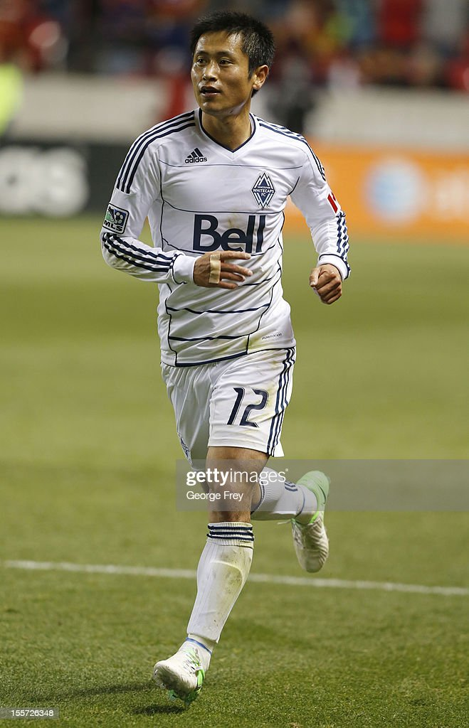 YoungPyo Lee of Vancouver Whitecaps runs down the field against Real Salt Lake during the second half of an MLS soccer game October 27 2012 at Rio...