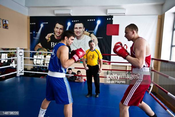 Youngsters learning the art of boxing at a gym funded by Vitali and Wladimir Klitschko photographed for Live Night Day magazine on March 11 2012 in...