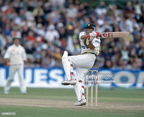 Younis Khan batting for Pakistan during the 2nd Test match between England and Pakistan at Old Trafford Manchester 31st May 2001