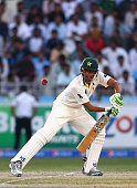 Younis Khan of Pakistan bats during day five of the second test between Pakistan and New Zealand at Dubai International Stadium on November 21 2014...