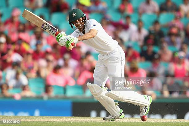 Younis Khan of Pakistan bats during day three of the Third Test match between Australia and Pakistan at Sydney Cricket Ground on January 5 2017 in...