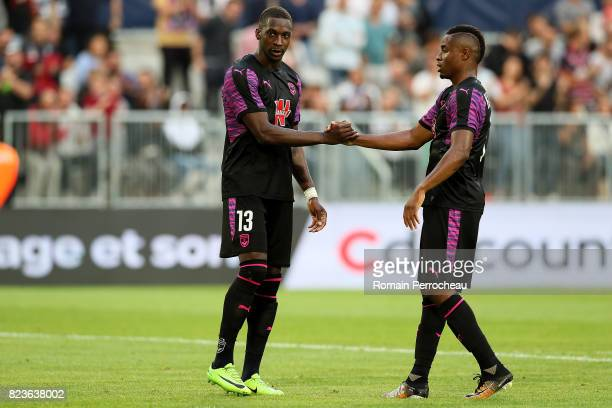 Younousse Sankhare and Francois Kamano of Bordeaux during the UEFA Europa League qualifying match between Bordeaux and Videoton at Stade Matmut...