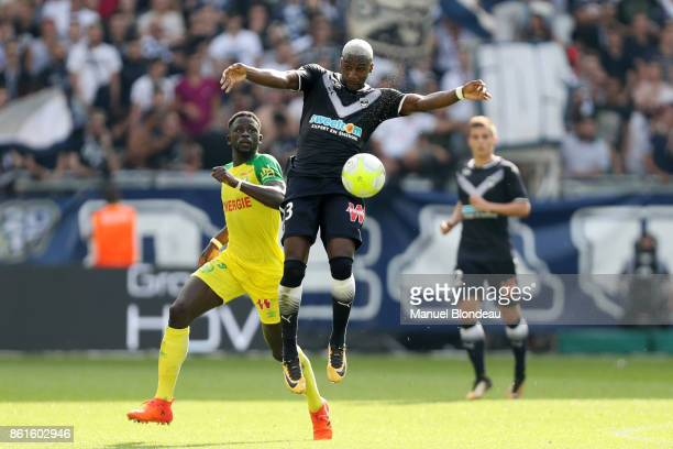Younousse Sankhare of Bordeaux and Abdoulaye Toure of Nantes during the Ligue 1 match between FC Girondins de Bordeaux and FC Nantes at Stade Matmut...