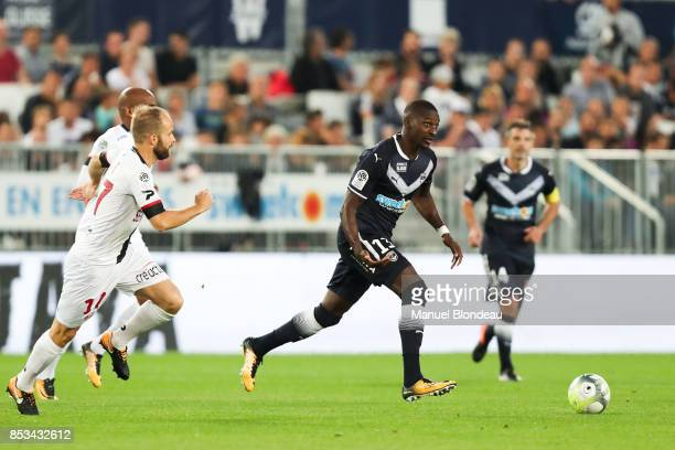 Younousse Sankhare of Bordeaux during the Ligue 1 match between FC Girondins de Bordeaux and EA Guingamp at Stade Matmut Atlantique on September 23...