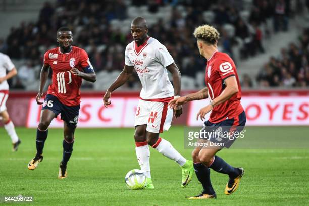Younousse Sankhare of Bordeaux during the Ligue 1 match between Lille OSC and FC Girondins de Bordeaux at Stade Pierre Mauroy on September 8 2017 in...