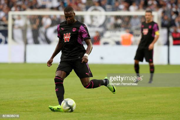 Younousse Sankhare of Bordeaux in action during the UEFA Europa League qualifying match between Bordeaux and Videoton at Stade Matmut Atlantique on...