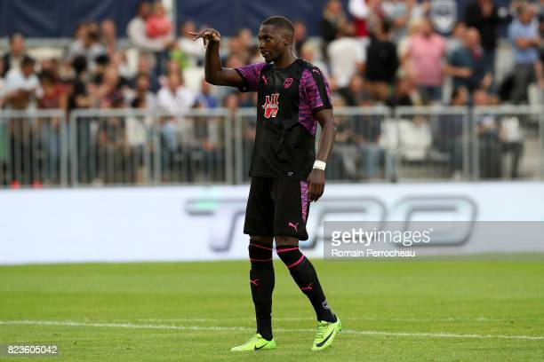 Younousse Sankhare of Bordeaux reacts after his goal during the UEFA Europa League qualifying match between Bordeaux and Videoton at Stade Matmut...
