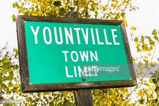 Yountville, California, town sign : Foto stock