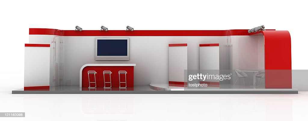 Your company blank trade exhibition stand (front view)