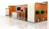 Your company blank trade exhibition stand