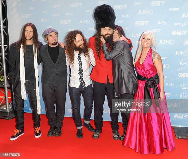 Your Favorite Enemy arrives at the 2015 Juno Awards at FirstOntario Centre on March 15 2015 in Hamilton Canada