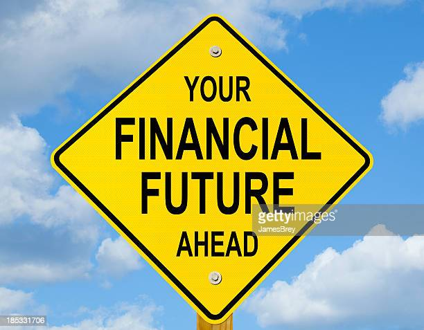 Your Financial Future Ahead Road Sign