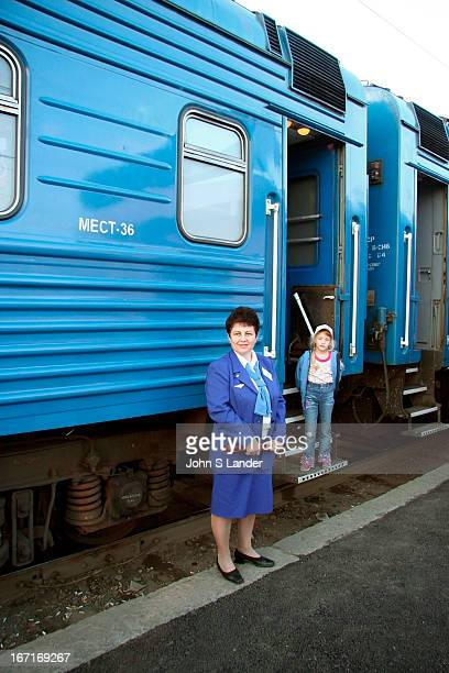 Your friendly provinitsas or carriage attendant Besides keeping the bathrooms and corridors clean and the samovar boiling with water her job is also...
