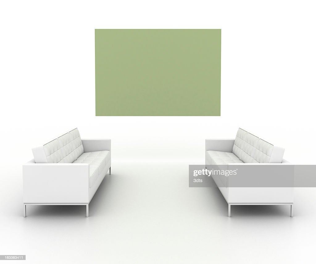 'Your personal art gallery (front view, isolated on white)'