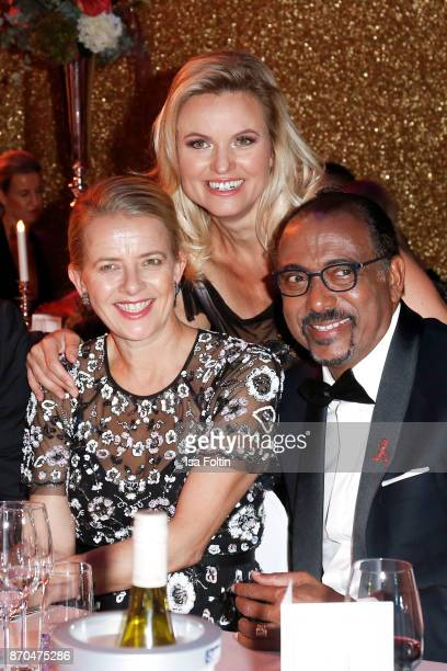 Your Royal Highness Princes Mabel von OranienNassau German presenter Carola Ferstl and Michel Sidibe attend the aftershow party during during the...