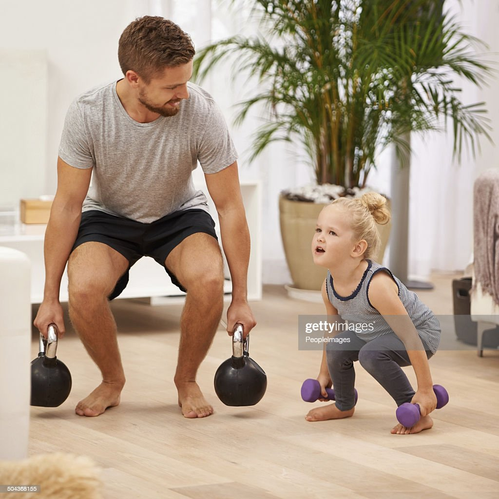 You're getting so strong! : Stock Photo