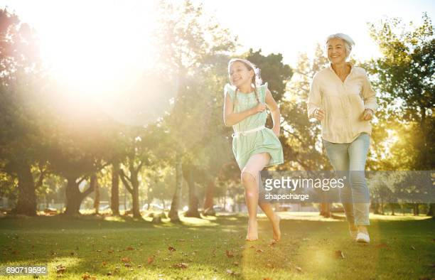 You're never too old to play in the park