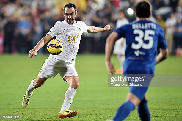Youri Djorkaeff of Team Figo in action during the Global Legends Series match at the SCG Stadium on December 5 2014 in Bangkok Thailand
