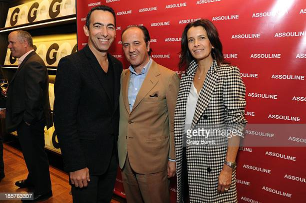 Youri Djorkaeff Prosper Assouline and Sophie Djorkaeff attend Martine and Prosper Assouline host Jim Nelson and Chris Mitchell to celebrate the...