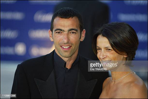 Youri Djorkaeff with his wife at Laureus World Sports Awards in Monaco city Monaco on May 20 2003