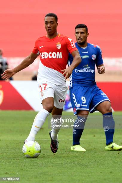 Youri TIELEMANS during the Ligue 1 match between AS Monaco and Strasbourg at Stade Louis II on September 16 2017 in Monaco