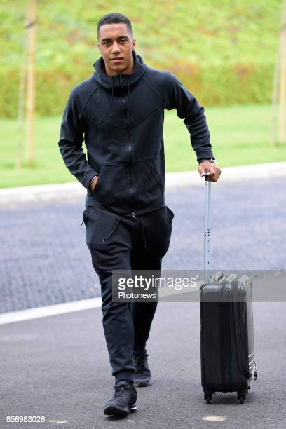 Youri Tielemans midfielder of Belgium arrives at the Martin's Red hotel prior to the World Cup 2018 qualification games against Bosnia and...