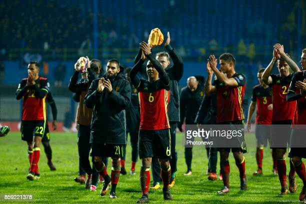 Youri Tielemans midfielder of Belgium during the World Cup Qualifier Group H match between Bosnia and Herzegovina and Belgium at the Grbavica stadium...