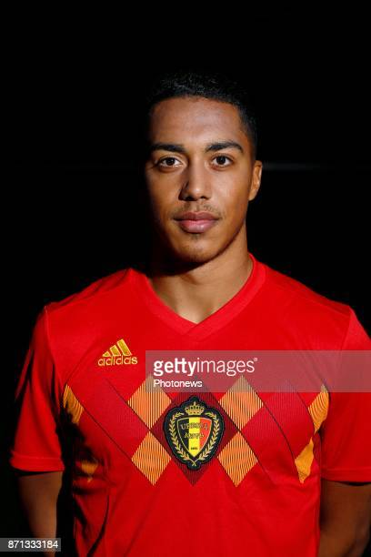 Youri Tielemans midfielder of Belgium Official team picture during the photoshoot of the Red Devils at the national training center on November 07...