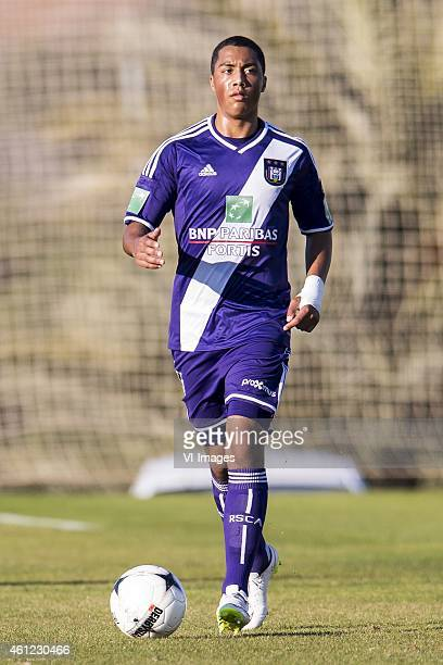 Youri Tielemans of Anderlecht during the International friendly match between Vitesse Arnhem and RSC Anderlecht on January 9 2015 at Alicante Spain