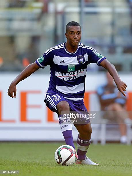 Youri Tielemans of Anderlecht during the preseason friendly match between RSC Anderlecht and SS Lazio Roma on July 19 2015 at the Constant Vanden...