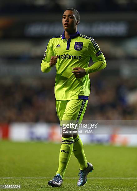 Youri Tielemans of Anderlecht during the UEFA Europa League match between Tottenham Hotspur and RSC Anderlecht on November 5 2015 in London United...