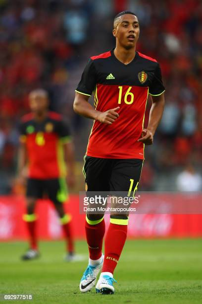 Youri Tielemans of Belgium in action during the International Friendly match between Belgium and Czech Republic at Stade Roi Baudouis on June 5 2017...