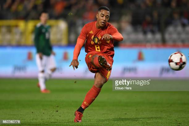 Youri Tielemans of Belgium in action during the international friendly match between Belgium and Mexico at King Baudouin Stadium on November 10 2017...