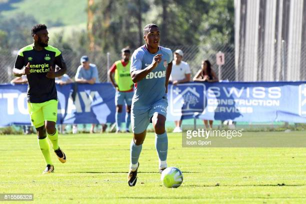 Youri Tielemans of Monaco during the friendly match between As Monaco and PSV Eindhoven on July 16 2017 in Le Chable Switzerland