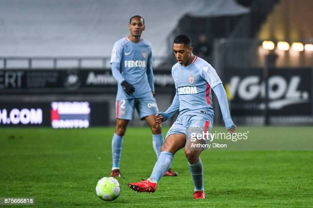 Youri Tielemans of Monaco during the Ligue 1 match between Amiens SC and AS Monaco at Stade de la Licorne on November 17 2017 in Amiens