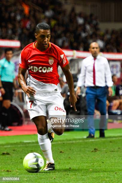 Youri Tielemans of Monaco during the Ligue 1 match between AS Monaco and Toulouse at Stade Louis II on August 4 2017 in Monaco