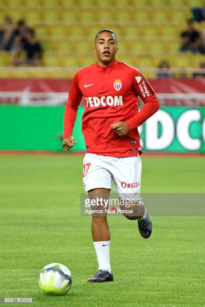 Youri Tielemans of Monaco during the Ligue 1 match between AS Monaco and Montpellier Herault SC at Stade Louis II on September 29 2017 in Monaco