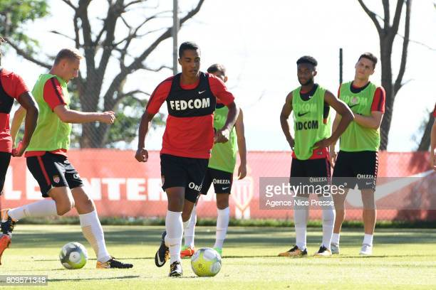 Youri Tielemans of Monaco during the training session of AS Monaco on July 5 2017 in Monaco Monaco