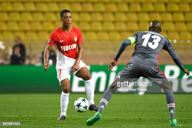Youri Tielemans of Monaco during the UEFA Champions League match between AS Monaco and Besiktas Istanbul at Stade Louis II on October 17 2017 in...